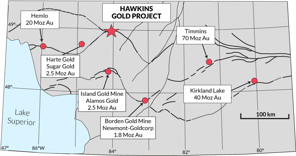 Regional Structure and Deposits map